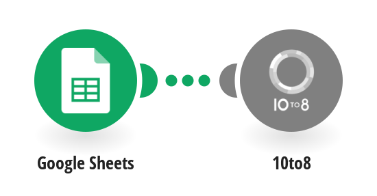 Book a 10to8 appointment from new Google Sheets spreadsheet rows