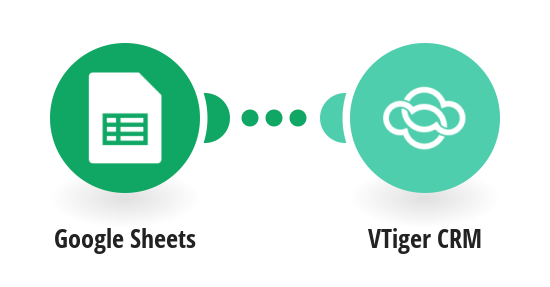 Create Vtiger CRM opportunities from new rows in a Google Sheets spreadsheet