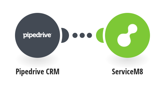 Create ServiceM8 clients from Pipedrive CRM persons