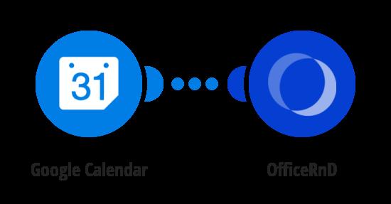 Create an OfficeRnD booking for new Google Calendar event