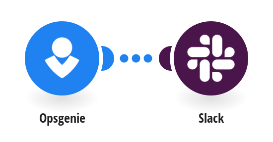 Create an Alert in Opsgenie and sends a notification to Slack