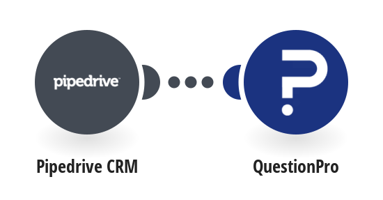 Send a QuestionPro survey for a new Pipedrive CRM person