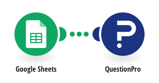 Create a QuestionPro survey for a new Google Sheets row