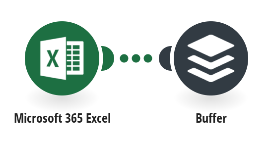 Create a Buffer status update from a new Microsoft 365 Excel row
