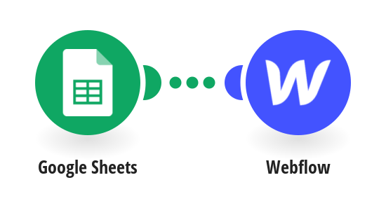 Add new collections in Webflow from new rows of data on a Google Sheet