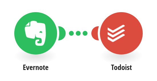 Add new Evernote notes to Todoist as tasks
