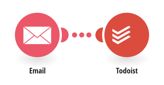 Update a Todoist task with information received via email