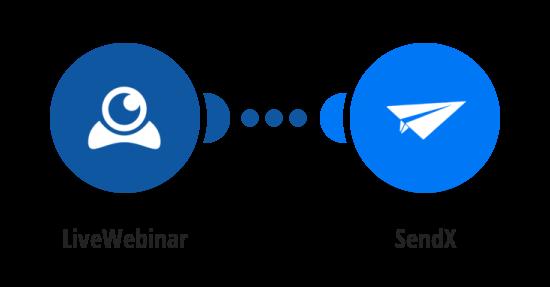 Create a SendX contact from a new LiveWebinar registrant