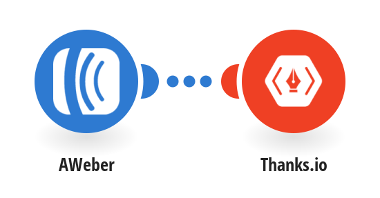 Add a new AWeber subscriber to a Thanks.io mailing list