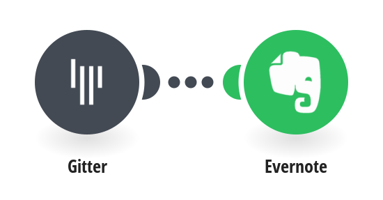 Create Evernote notes from new Gitter messages