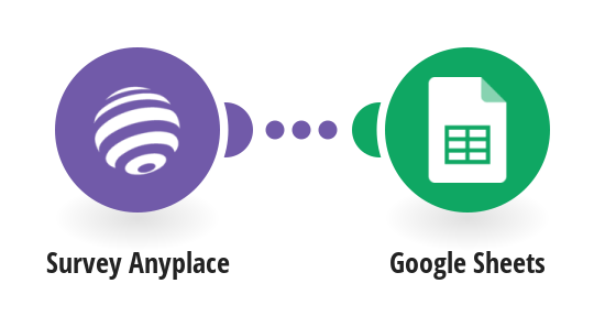 Add Google Sheets rows from Survey Anyplace responses