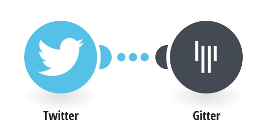 Send Gitter messages for new liked tweets