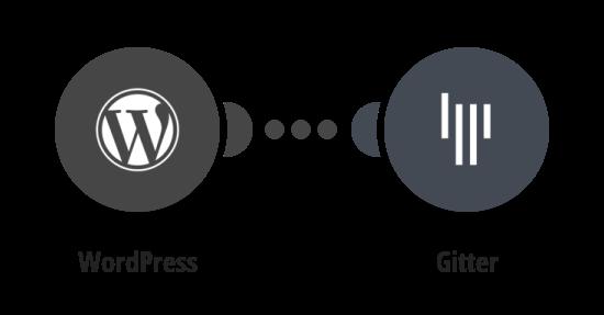 Zaslání nového příspěvku ve WordPressu na Gitter jako zprávu do pokoje