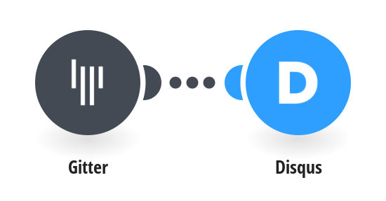 Create Disqus comments from new Gitter messages