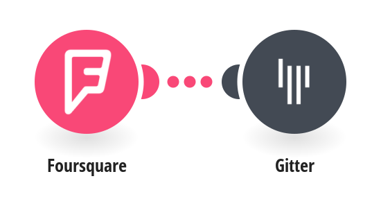 Send Gitter messages whenever you visit a new Foursquare place