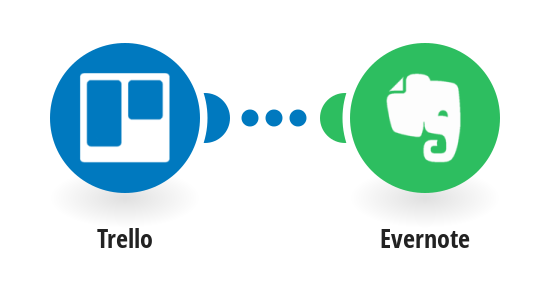 Add new Evernote notes from new Trello cards