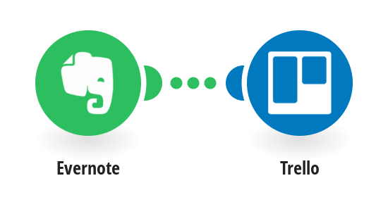 Add new notes in Evernote as lists in Trello
