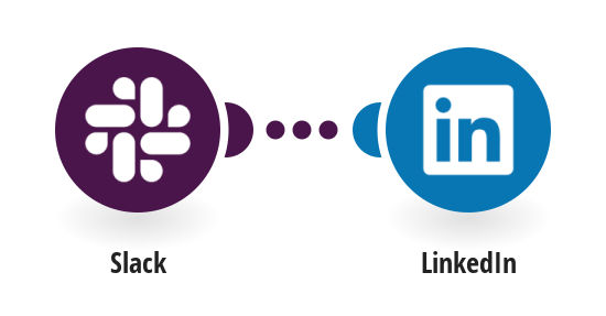 Create a LinkedIn text post from a new Slack message