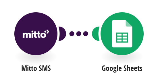 Add a new row into a Google Sheets spreadsheet from an incoming Mitto SMS