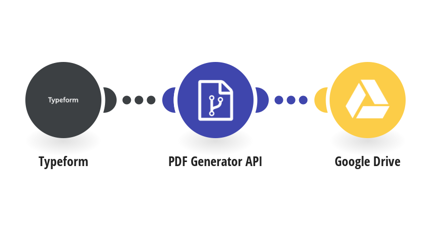 Generate a PDF via PDF Generator API from a Typeform response and save it to Google Drive
