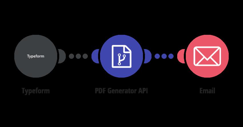 Generate a PDF via PDF Generator API from a Typeform response and send it via email