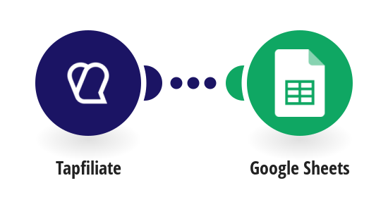 Add a new row to a Google Sheets spreadsheet from a new affiliate in Tapfiliate