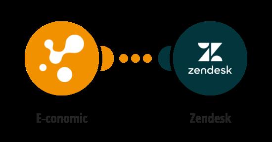 Save new customer in E-conomic as new end user in Zendesk