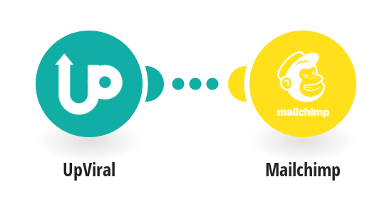 Add/update Mailchimp subscribers from new UpViral contacts