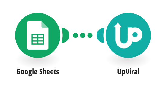 Create new UpViral contacts from new rows in a Google Sheets spreadsheet