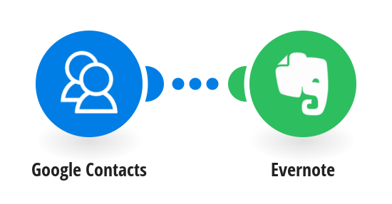 Add new Google Contacts to Evernote as notes