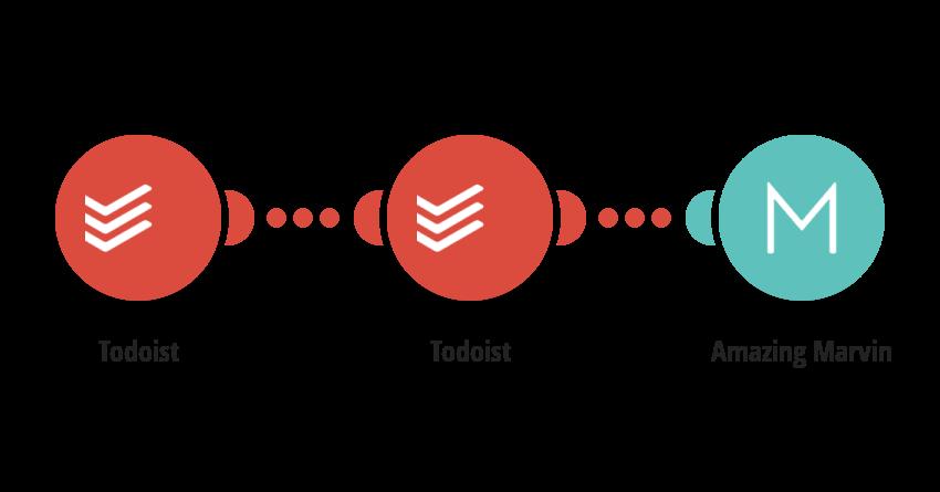 Create Amazing Marvin tasks from new Todoist tasks