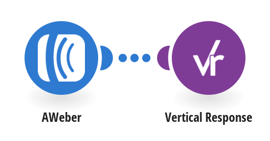 Add contacts to a Vertical Response list for new AWeber subscribers