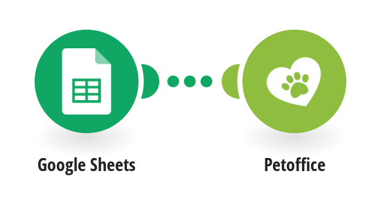 Create Petoffice pets from new Google Sheets spreadsheet rows