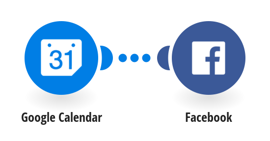 Share your new Google calendar events on Facebook