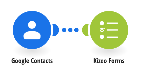 Add new Google Contacts to Kizeo Forms as a new users