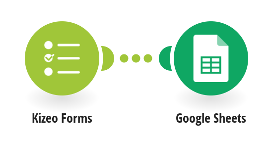Add new Kizeo Forms users to a Google Sheets spreadsheet as a new rows