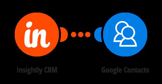 Vytvoření nového Google kontaktu z kontaktu v Insightly CRM