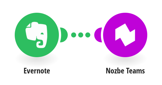 Add new Evernote notes to Nozbe Teams as tasks