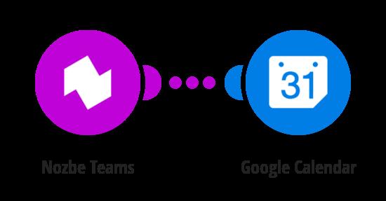 Create Google Calendar events for new Nozbe Teams tasks