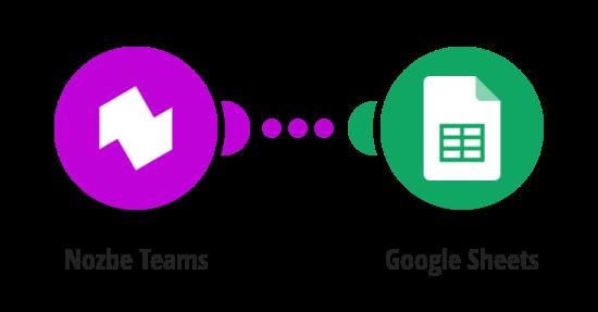 Save new Nozbe Teams tasks to a Google Sheets spreadsheet