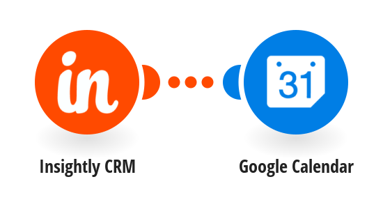 Add new Insightly CRM events to a Google Calendar