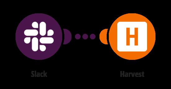 Vytvoření projektu v Harvestu z nové zprávy ve Slacku