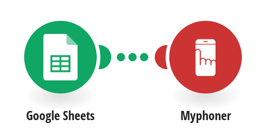 Add new leads to Myphoner for new Google Sheets spreadsheet rows