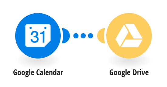 Save new Google calendars events to Google Drive
