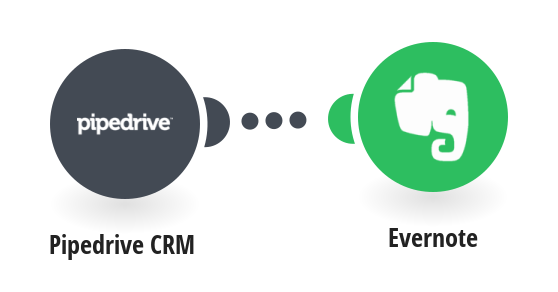 Add new Pipedrive CRM notes to Evernote as notes