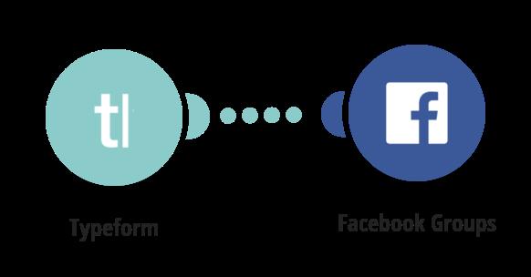 Vytvoření příspěvku ve Facebook skupině z nové odpovědi na otázku v Typeform